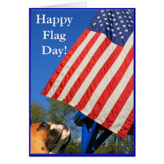 Happy Flag Day Boxer greeting card