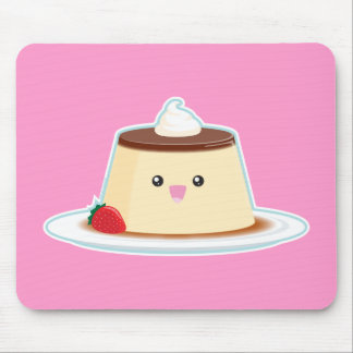 Happy Flan Mouse Pad