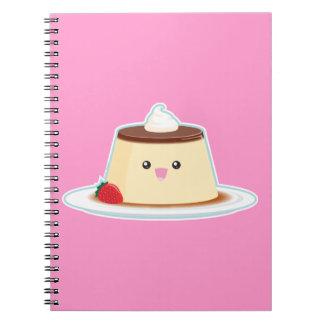 Happy Flan Spiral Notebook