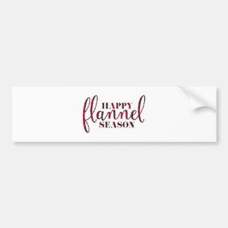 Happy Flannel Season Bumper Sticker