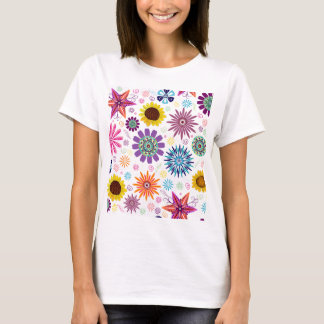 Happy floral pattern T-Shirt