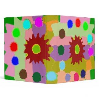 HAPPY Flower Art : Love n R 3 Ring Binder