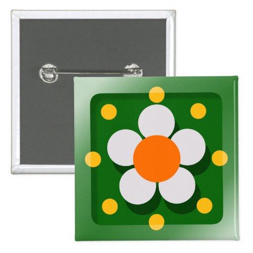 Happy Flower Button