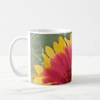 Happy Flower Cup Classic White Coffee Mug