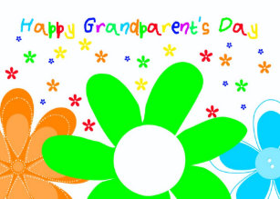Grandparents day cards zazzle happy flower grandparents day greeting card m4hsunfo