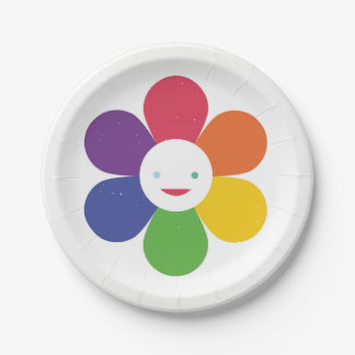 Happy Flower Paper Plate