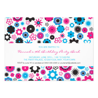 Happy Flower Party Cards
