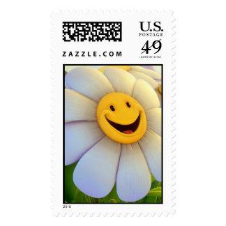 happy flower stamp