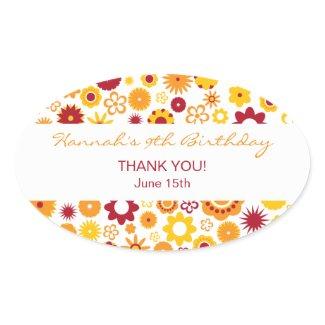Happy Flower Sticker sticker