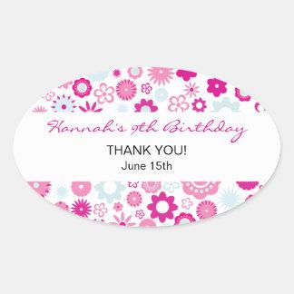 Happy Flower Thank You Birthday Sticker