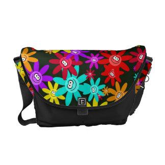 Happy Flower Wallpaper Messenger Bag