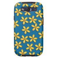 Happy Flowers Blue Samsung Galaxy S Case Samsung Galaxy SIII Case
