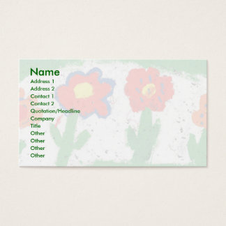 Happy flowers business card