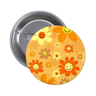 Happy Flowers Button