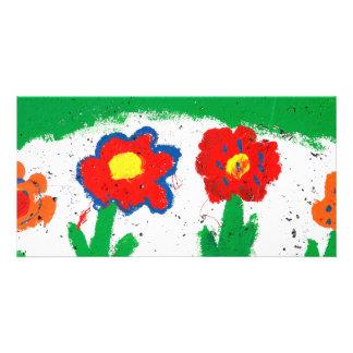 Happy flowers card