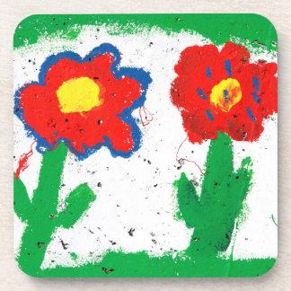 Happy flowers coaster