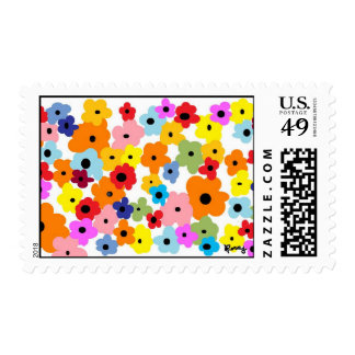 """HAPPY FLOWERS"" Collection Stamp"
