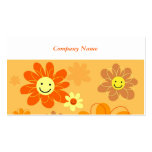 Happy Flowers, Company Name Business Card Templates