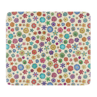 Happy Flowers cutting board