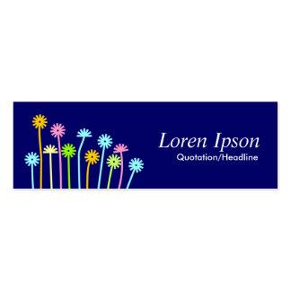 Happy Flowers (Dark Blue) Mini Business Card