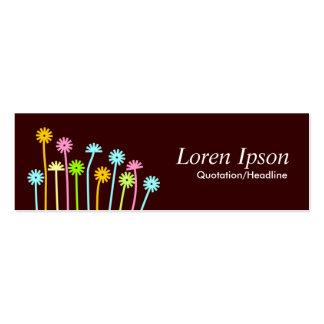 Happy Flowers (Dark Brown) Mini Business Card