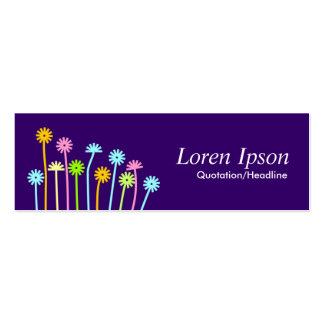Happy Flowers (Dark Purple) Mini Business Card