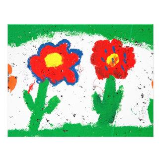 Happy flowers flyer