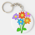 Happy Flowers Key Chains