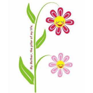 Happy flowers Mother's Day custom t-shirt zazzle_shirt