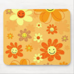 Happy Flowers Mouse Pad