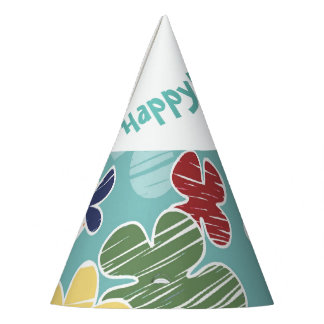 Happy Flowers Party Hat