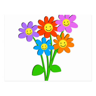 Happy Flowers Post Cards