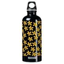 Happy Flowers Purple Aluminum Water Bottle