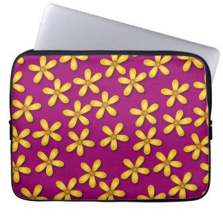 Happy Flowers Purple Laptop Sleeve