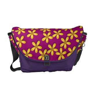 Happy Flowers Purple Messenger Bag