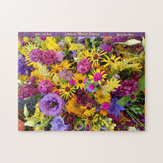 Happy Flowers Puzzle Personalize