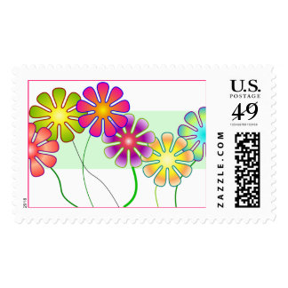 Happy Flowers Stamp