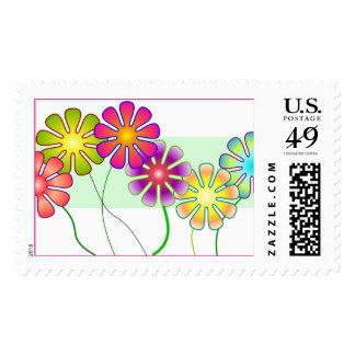 Happy Flowers Stamp