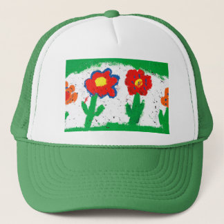 Happy flowers trucker hat