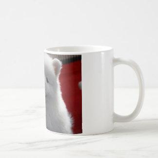 Happy Fluffy White Dog Coffee Mug