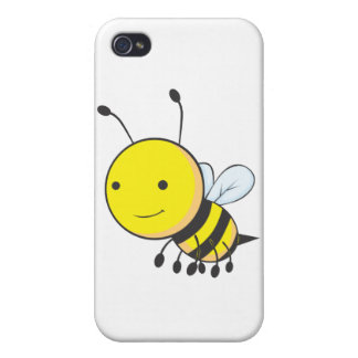 Happy Flying Baby Bee Insect iPhone 4/4S Cover