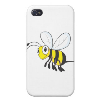 Happy Flying Bee Insect iPhone 4/4S Covers