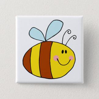 happy flying honeybee honey bee cartoon button