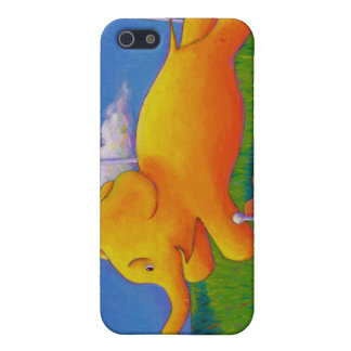 Happy flying yellow elephant wins the race fun art case for iPhone SE/5/5s