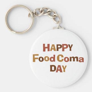 Happy Food Coma Day Keychain