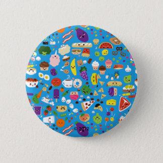Happy Food Pinback Button