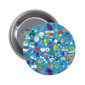 Happy Food Pinback Button