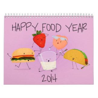 Happy Food Year 2014 Calendar