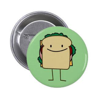 Happy Foods Smiling Sandwich Button