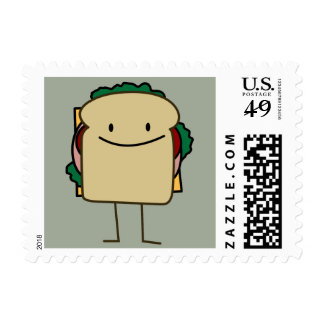 Happy Foods Smiling Sandwich Stamp